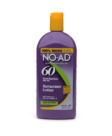 NO-AD Sunscreen Lotion SPF 60 16 oz [897640002248]