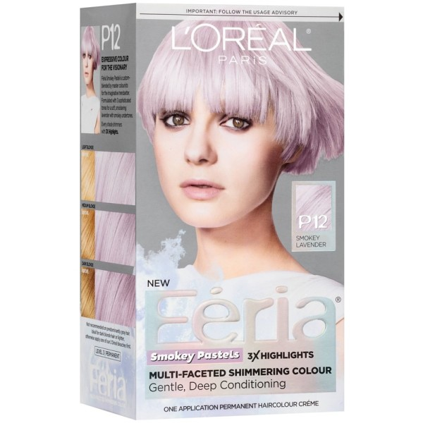 Loreal Paris Feria Smokey Pastels Permanent Hair Color Kit Smokey
