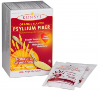 Konsyl Orange Flavor Psyllium Fiber Powder Packets, 30 each [302241852814]