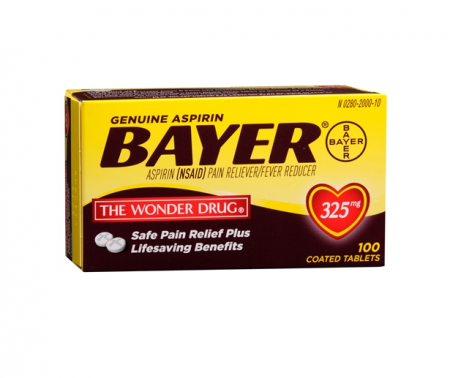 Bayer Aspirin 325mg Tablets 100 ea [312843536357]