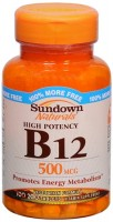 Sundown B-12 500 mcg Tablets 200 Tablets [030768126087]