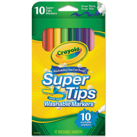Crayola Super Tip Markers Washable 10 ea [071662086107]