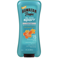 Hawaiian Tropic Island Sport High Performance Sunscreen Lotion, Light Tropical Scent SPF 15 8 oz [075486089863]