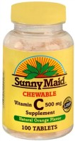 Sunny Maid Vitamin C 500 mg Chewable Tablets 100 Tablets [031604024567]