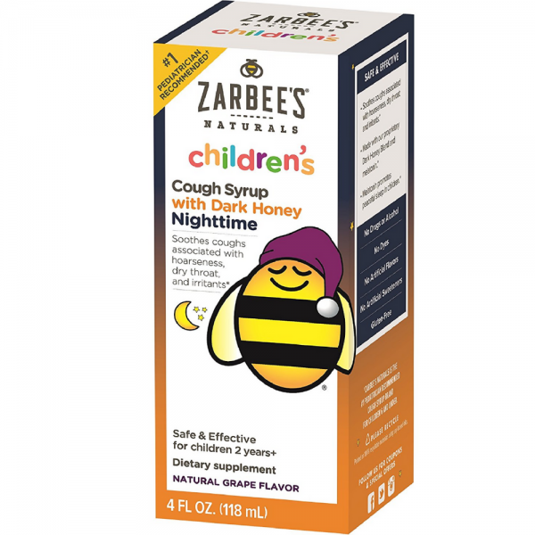 Zarbee S Naturals Children S Nighttime Cough Syrup With