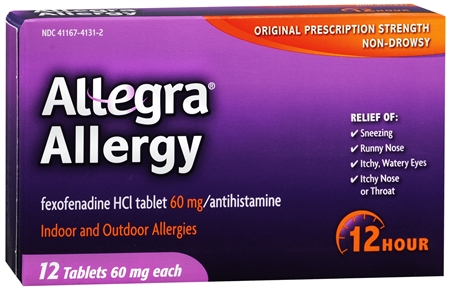 Allegra Allergy Tablets 12 Hour 12 Tablets [041167413128]