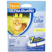 "Hartz Flea & Tick Cat Collar, White 13"" 1 ea [032700804831]"