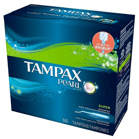 Tampax Pearl Plastic Super Absorbency Tampons, Unscented 36 ea [073010003705]