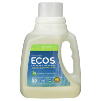 Earth Friendly Products Ecos Liquid Laundry Detergent, Lemongrass 50 oz [749174097569]
