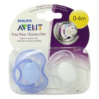 Philips Avent BPA Free Freeflow Pacifier, 0-6 Months 2 ea [075020006530]