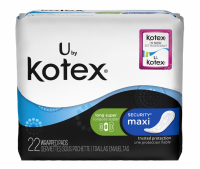 U by Kotex Maxi Pads, Long, Super Unscented 22 ea [036000030211]