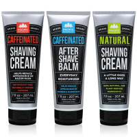 Pacific Shaving Company 3-Pc Shaving Essentials Set | Natural Ingredients Natural Shave Cream Caffeinated Shaving Cream,Caffeinated Aftershave 1 ea [191897755668]