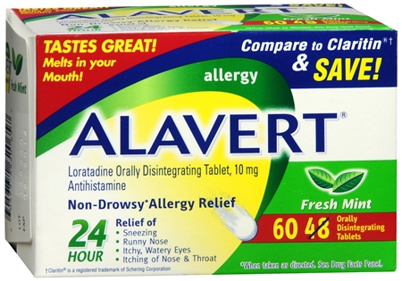Alavert 24 Hour Orally Disintegrating Tablets Fresh Mint 60 Tablets [305732620657]