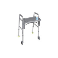 "Drive Medical Deluxe Folding Walker Tray, Gray, 16"" x 12"" 1 ea [822383120805]"