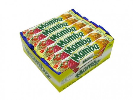 Mamba Variety 18 Fruit Chews 24 pack (2.65 oz per pack)  [072799035112]