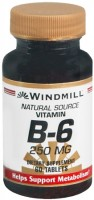 Windmill Vitamin B-6 250 mg Tablets 60 Tablets [035046001247]