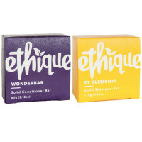 Ethique Solid Bars, St. Clements Shampoo + Wonderbar Conditioner 1 ea [191567004102]