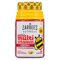ZarBee's Naturals  Children's Complete Multivitamin + Iron Gummies, Natural Fruit Flavor,  90 ea [858438005957]
