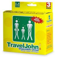 TravelJohn Disposable Urinal for Men, Women & Children 3 ea [671504668937]