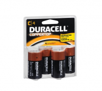 Duracell Coppertop Alkaline Batteries C 4 ea [041333440019]