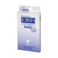 JOBST 30-40 mmHg Closed Toe Knee High Unisex Support Stocking, Black, Large, 1 Pair [035664147389]
