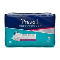 Adult Incontinent Brief Prevail Breezers 360 Tab Closure Size 1 Disposable Heavy Absorbency- 16 ea [090891246625]