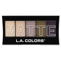 L.A. Colors 5 Color Matte Eyeshadow, Natural Linen 0.08 oz [081555744717]