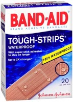 BAND-AID Tough-Strips Waterproof Bandages All One Size 20 Each [381370048336]
