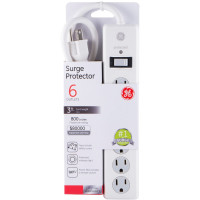 General Electric General Purpose Six-Outlet Surge Strip Protector [14010] 1 ea [043180140104]