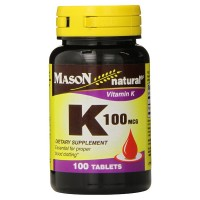 Mason Natural K 100 mcg Tablets 100 ea [311845077912]