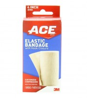 ACE Elastic Bandage with Hook Closure, 4 Inches 1 ea [051131203631]