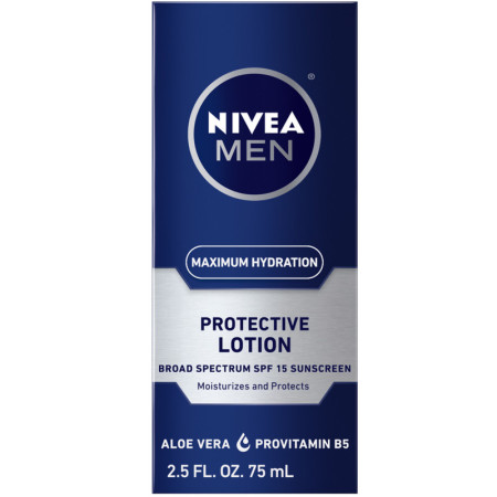 NIVEA MEN Maximum Hydration Protective Lotion SPF 15, 2.5 oz [072140888329]