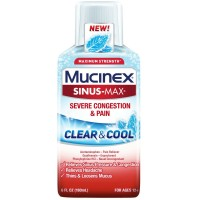 Mucinex Sinus-Max Clear & Cool Adult Liquid - Severe Congestion Relief 6 oz [363824265667]