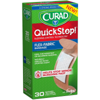 Curad Quickstop Instant Clotting Technology Flex-Fabric Bandages 30 ea [888277365998]
