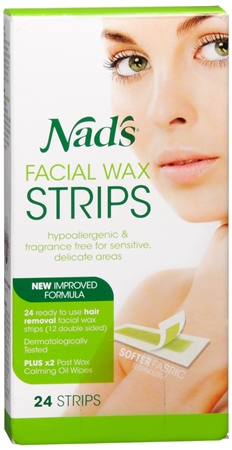 Nad's Facial Hair Removal Strips 24 Each [638995001933]