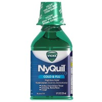 Vicks Nyquil Cold & Flu Nighttime Relief Liquid, Original Flavor 8 oz [323900014244]
