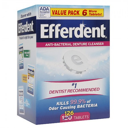Efferdent Original Anti-Bacterial Denture Cleanser Tablets 126 ea [814832015886]