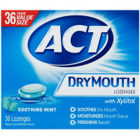 ACT Dry Mouth Soothing Mint Lozenges 36 ea [041167099865]