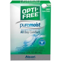 OPTI-FREE Pure Moist Multi-Purpose Disinfecting Solution, All Day Comfort 2 oz [300650361026]