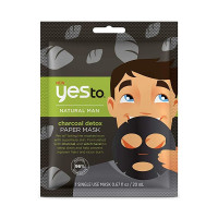 Yes To Natural Man Charcoal Detox Paper Mask, 0.67 oz  [815921018306]