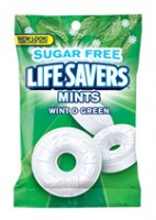 Lifesavers Sugar Free Wintergreen 12 packs (2.75 oz per pack)  [019000003058]
