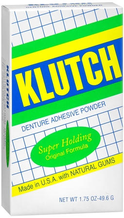 Klutch Denture Adhesive Powder Super Hold 1.75 oz [011169689708]