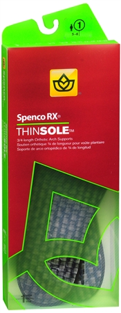 Spenco RX ThinSole Orthotics 3/4 Length #1 1 Pair [038472520566]