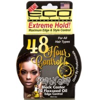 ECO Styler Play 'n Stay Black Castor & Flaxseed Oil Edge Control Gel 3 oz [748378004434]