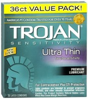 TROJAN Ultra Thin Condoms Lubricated Latex 36 Each [022600926603]