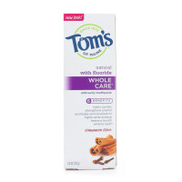 Tom's of Maine Whole Care Natural Fluoride Toothpaste, Cinnamon Clove 4 oz [077326470190]