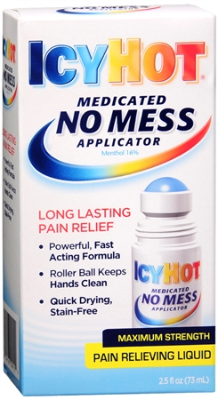 ICY HOT Medicated No Mess Applicator Pain Relieving Liquid 2.50 oz [041167009109]