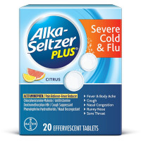 Alka-Seltzer Plus Severe Cold & Flu Citrus Effervescent Tablets With Pain Reliever/Fever Reducer 20 ea [016500564966]