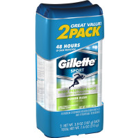 Gillette Sport High Performance Clear Gel Aniperspirant & Deodorant, Power Rush 3.8 oz each 2 ea [047400510463]