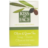 Kiss My Face Olive & Green Tea Bar Soap 8 oz [028367833482]